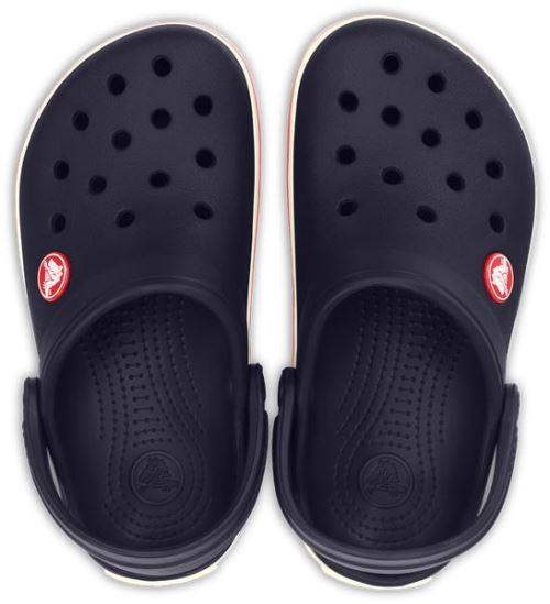 Crocs crocband kids sabots <strong>chaussures</strong> sandales en navy bleu blanc rouge 10998 410