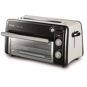 Tefal Toast n' Grill TL 6008 A12 - elektrische oven/broodrooster - zwart/mat aluminium