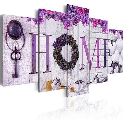 Tableau - purple house - artgeist - 100x50