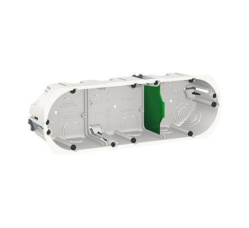 Boîte d'encastrement Multifix - 3 postes - Profondeur 50mm - Blanc