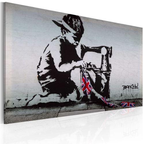 Tableau - Union Jack Kid (Banksy) .Taille : 60x40