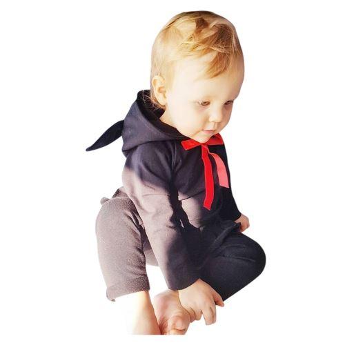 Enfant Tout-Petit Bébé Cartoon Manches Longues à Capuche Hauts + Ruffle Pantalons Tenues Set YEZB286