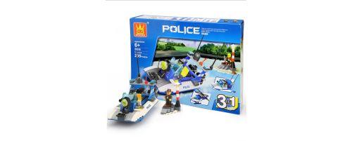 Building Block jouets Wange Police Boat Couleur 51015