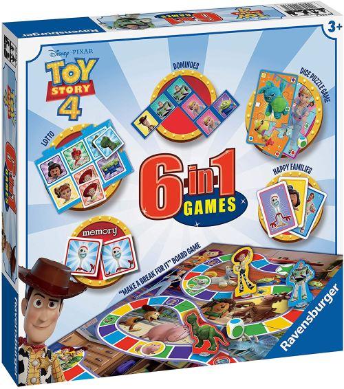 Ravensburger Disney Toy Story 4 Jeu 6 en 1 pour Enfants et familles à partir de 3 Ans – Comprend 6 Jeux Classiques : Bingo, mémoire, Dominos, Serpents, échelles, Dames et Cartes à Jouer