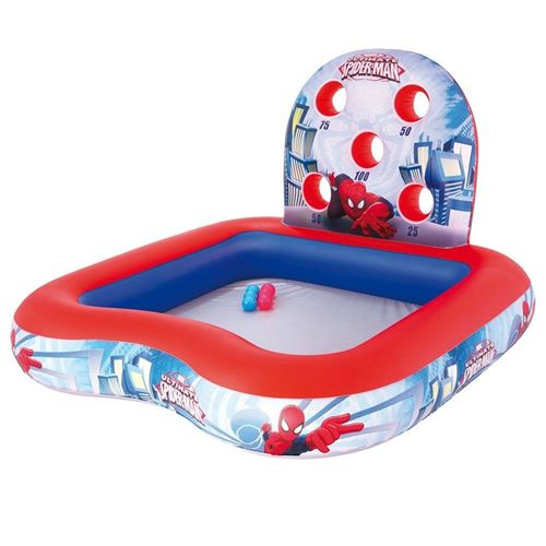 Bestway Piscine gonflable Spider-Man aire de jeux eau boules enfant 98016