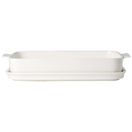 Villeroy & Boch - Clever Cooking plat à four rectangulaire avec couvercle, 34 x 24 cm