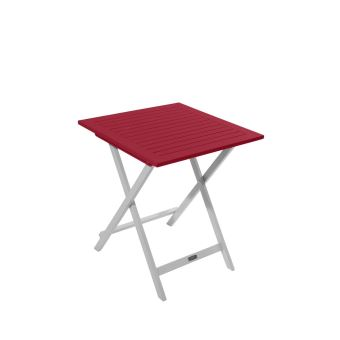 Table de jardin pliante carrée BURANO CITY GREEN Rouge - Mobilier de ...