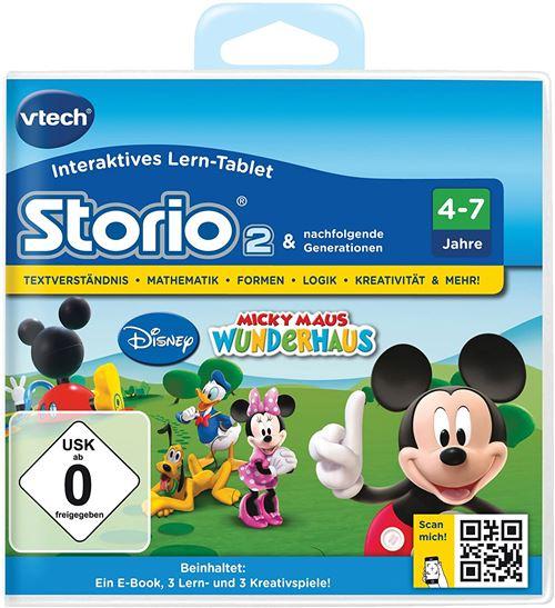 VTech 80-230404 Jeu éducatif pour Storio 2, Storio 3S Thème : la Maison de Mickey [Français Non Garanti]