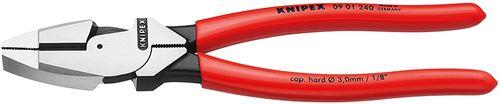 KNIPEX 09 01 240 Pince universelle pour câbles modèle américain noire atramentisée gainées en plastique antidérapant 240 mm