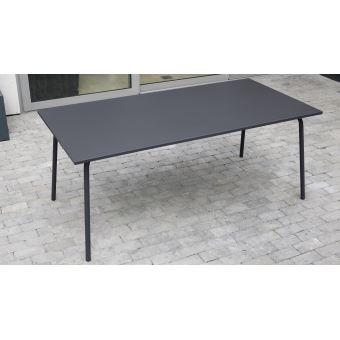 Salon de jardin en métal 1 table et 8 fauteuils, Palavas - Bleu ...