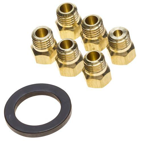 Jeu d'injecteurs gaz butane propane Four, cuisinière 481231038976 WHIRLPOOL, BAUKNECHT - 294845