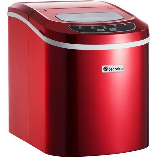 TecTake Machine à glaçons 9 par cycle - rouge
