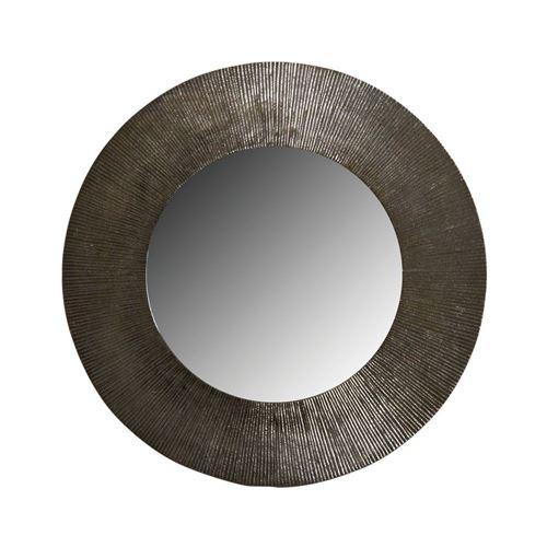 Aubry Gaspard - Miroir rond métal zinc antique