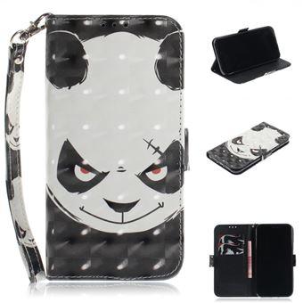 Etui En Pu Panda En Colère Pour Votre Apple Iphone Xr Etui
