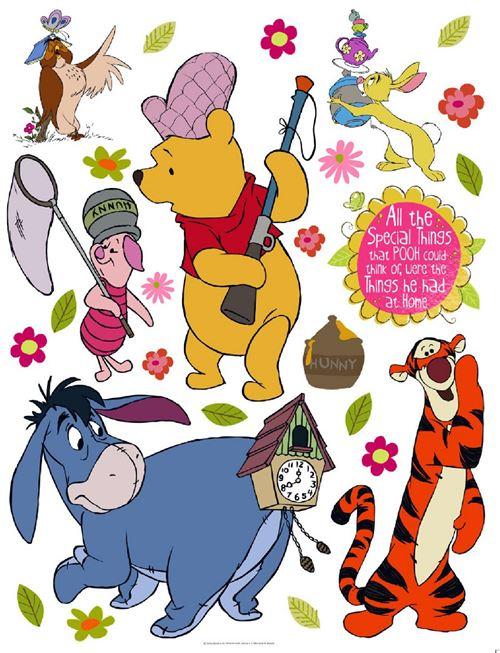 Stickers géant Winnie l'Ourson à la chasse Disney
