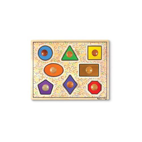 Puzzle en bois formes avec gros boutons
