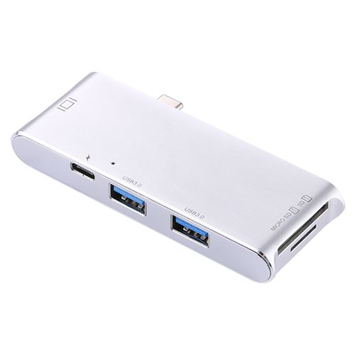 USB 3.0 HUB Type C Adapter with TF//SD Card Reader fr 2019 MacBook Pro Samsung HP