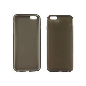 Uniformatic - Achterzijde behuizing voor mobiele telefoon - polyurethaan - zwart - voor Apple iPhone 6 Plus, 6s Plus