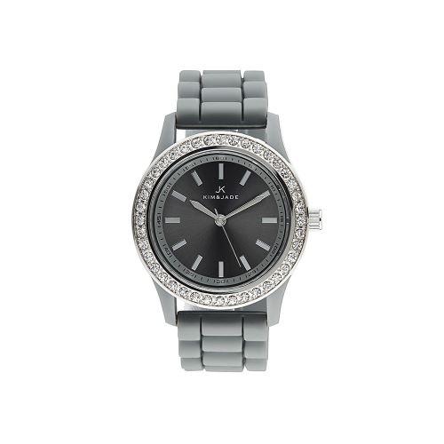 Montre Femme Kim & Jade Cadran En Plastic Noir Et Bracelet Noir En Acier 2032L-G