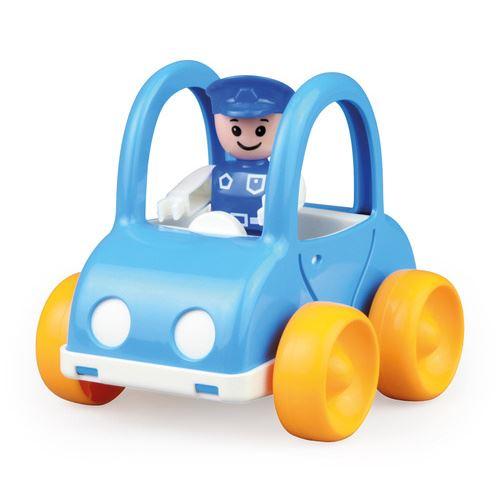 Lena voiture de police My First Racers junior 11 x 13 cm bleu/jaune