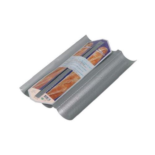 PATISSE Moule 3 baguettes antiadhésif en acier revetu - 38x25x0,5 cm