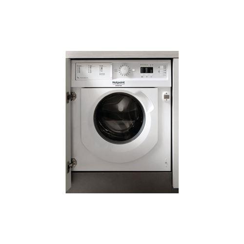 Hotpoint Ariston BI WMHL 71283 EU - Machine à laver - intégré - Niche - largeur : 60 cm - profondeur : 57 cm - hauteur : 82 cm - chargement frontal - 52 litres - 7 kg - 1200 tours/min - blanc