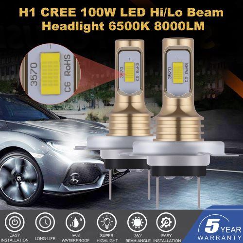 2pcs Golden H7 CSP LED Salut / Lo Beam Phare Fog Driving Lights Ampoules LD2274