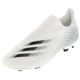 Chaussures football lamelles Adidas X ghosted sans lacet Blanc ...