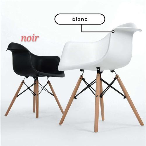 2pcs Tabourets de maison pieds de Hêtre Massif chaises longue - 64*53*48cm Noir