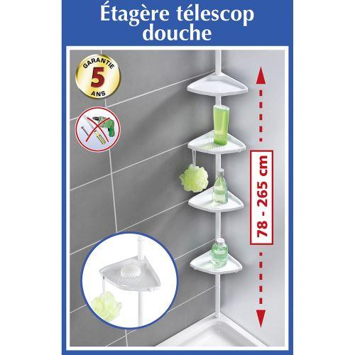Etagere Telescopique D Angle De Salle De Bain Blanc