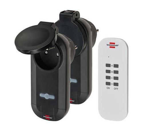 Set de prises télécommandées Confort-Line - 2 prises - Portée 25m - Noir