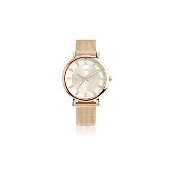 e3203868c19a3 Montre femme bracelet acier rose MATY Argent - Montre Femme - Achat & prix  | fnac