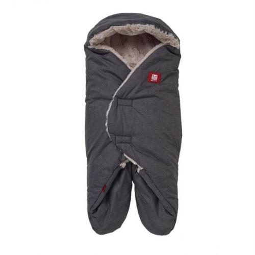 Couverture babynomade polaire tricot 0-6 mois gris - red castle