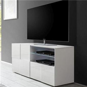 Nouvomeuble Petit Meuble Tv Design Blanc Laque Sandrea Meuble Tv Achat Prix Fnac