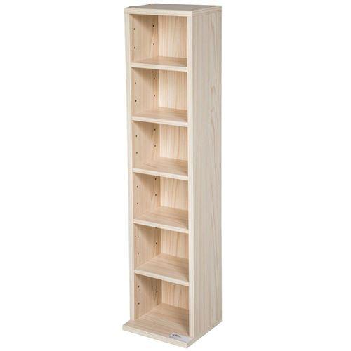 Armoire étagère rangement CD / DVD meuble de rangement pour 100 CDs bois