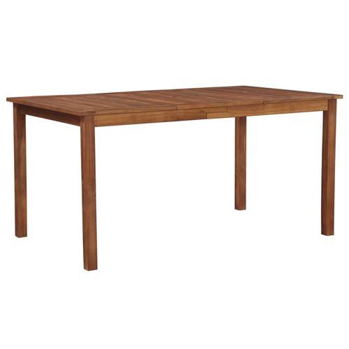 Table de jardin 150x90x74 cm Bois d'acacia massif Marron
