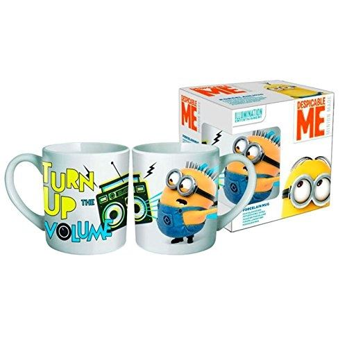 Beta service ev21489 minions turn up the volume 330 ml mug à café, plastique, multicolore, 15 x 25 x 12 cm