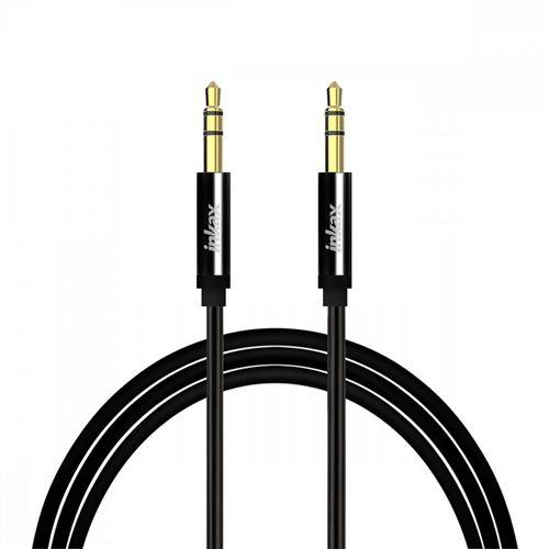 Câble Audio Auxiliaire Jack 3.5mm Mâle/Mâle Son de qualité 1m Inkax - Noir