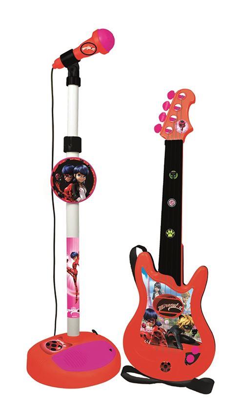 LadyBug Miraculous Guitare + Micro Boîte 34x18x72