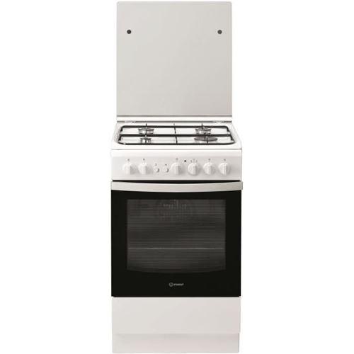 Indesit IS5G2PCW/FR - Cuisinière - pose libre - largeur : 50 cm - profondeur : 60 cm - hauteur : 85 cm - avec système auto-nettoyant - classe A - blanc