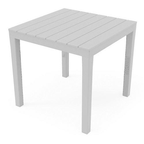 Table en résine 80 x 80 x h72 cm blanche TBL028BI