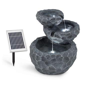 blumfeldt murach fontaine de jardin en cascade panneau d 39 nergie solaire 2 kw achat prix. Black Bedroom Furniture Sets. Home Design Ideas