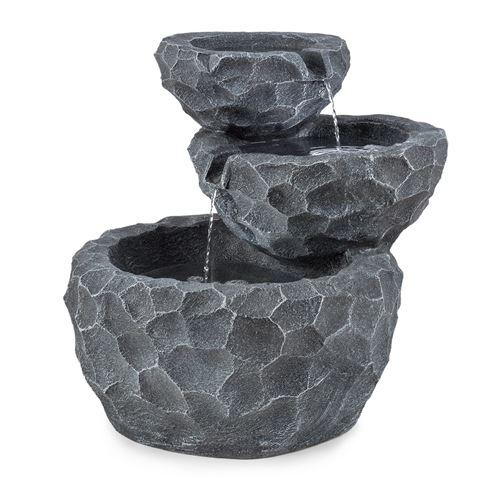 Blumfeldt Murach Fontaine de jardin en cascade - Panneau d\'énergie solaire  2 kw