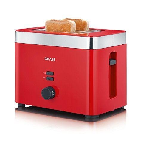 Grille-pain Graef TO63EU rouge acier inoxydable