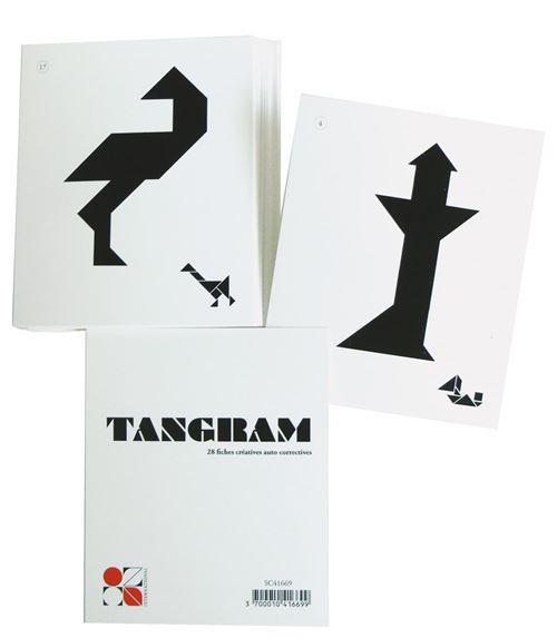 Tangram enfant 28 fiches modèles - oz international
