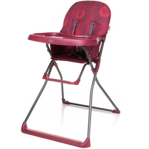 Chaise haute, pratique et légère HOWER | max. 15 kg | rouge foncé