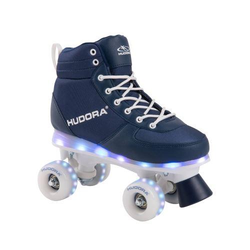 Hudora 13121 Roller Skate Advanced, Marine LED pointure 31/32