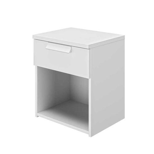 Table de chevet 1 tiroir 1 niche Blanc - ILORA