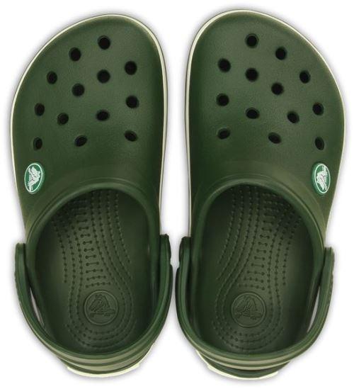 Crocs crocband kids sabots <strong>chaussures</strong> sandales en forest vert blanc 10998 301