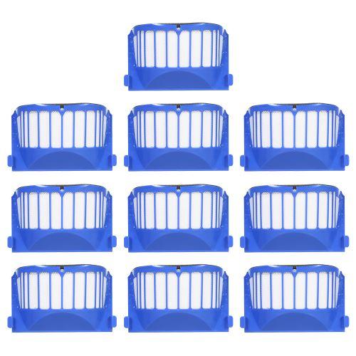 10pcs Filtre Remplacement Accessoires Kit Réapprovisionnement pour iRobot Roomba 600 Série 690 691 694 650 651 664 615 601 630 Aspirateur